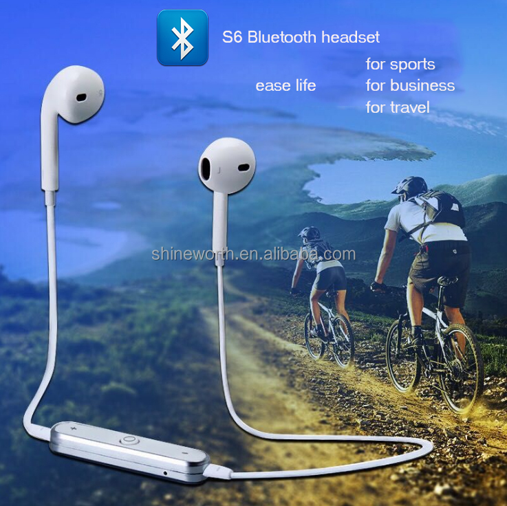 S6 <strong>bluetooth</strong> 4.1 wireless headset sports earphone for iphone