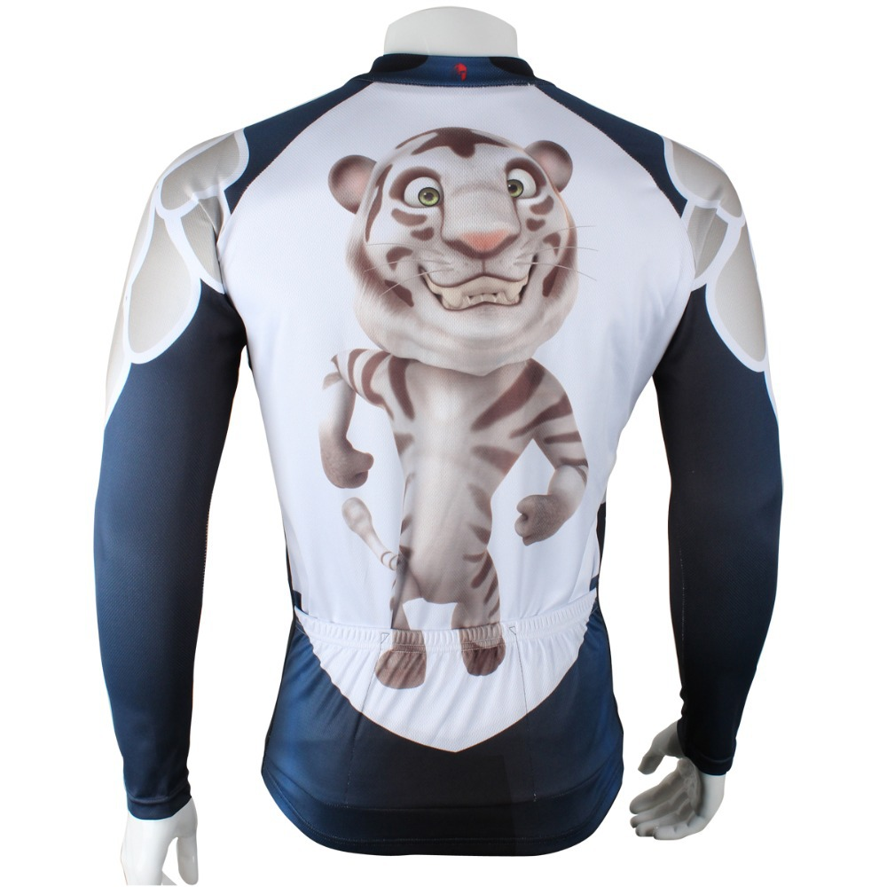Get Quotations · 2015 paladin men s long sleeve eagle cycling jersey tiger cycle  tops cool men s skull bike gear 52394a01c
