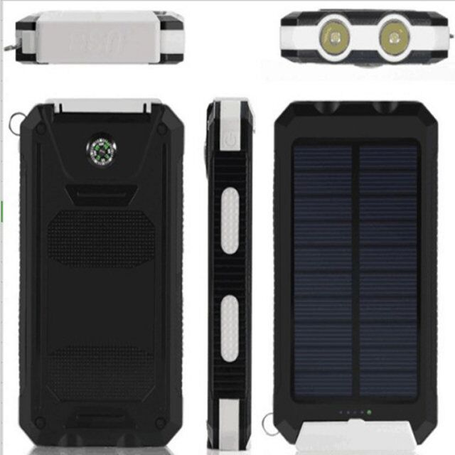 Wholesalers Phone Chargers External Solar Power Bank 20000mah