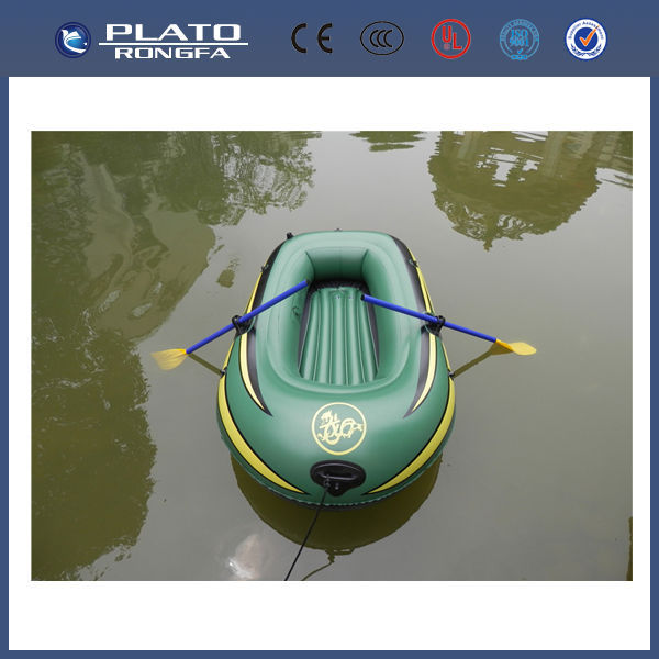 high quality and top grade fishing boat on the water, inflatable rowing boat