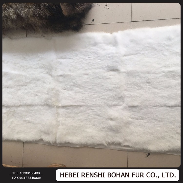Wholesale Price Dyed Real Genuine Chinchilla Rex Rabbit Fur Plate / Fur Throw