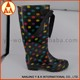 Top quality professional knee high jelly shoes, gumboots,crystal rain boots