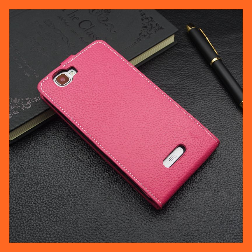 Alibaba PY Pink Folio PU Flip Leather Case for Explay Fresh