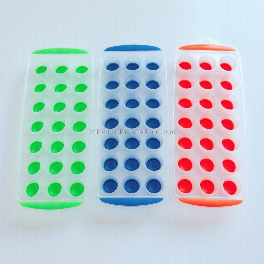 Plastic Pop-out silicone Ice Cube Tray 21 Cubes