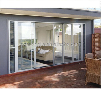 China Manufacturer High Quality Large Sliding Glass Door With Double Glazed  Grill Design/ China Sliding