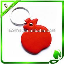 Red Apple style leather keyrings
