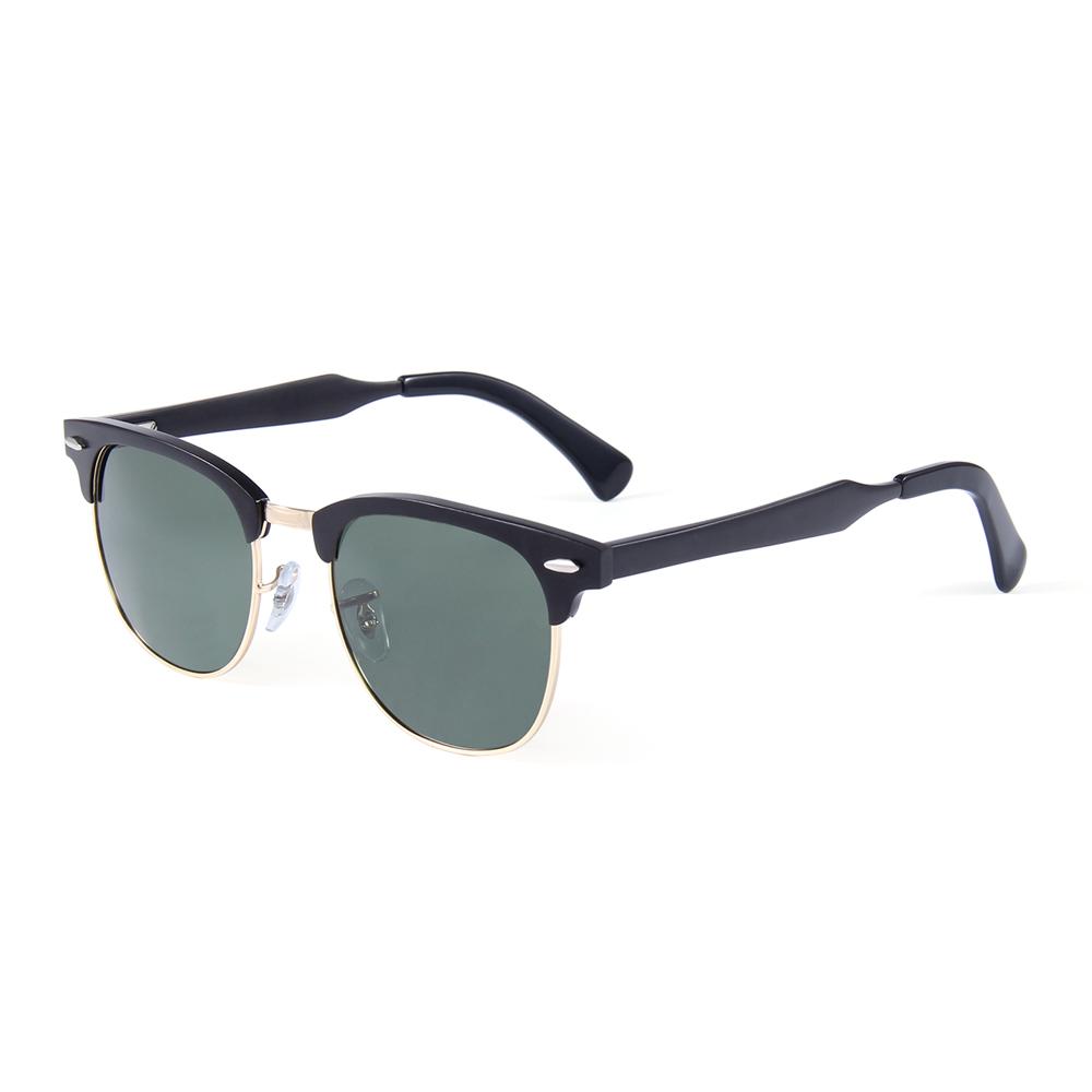 2019 Latest Men Classic Half Frame Semi-Rimless Sun glasses Aluminum Frame Polarized Sunglasses, Mix color