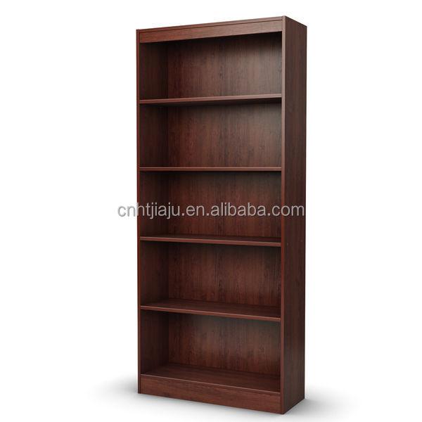 5 shelf mediaboekenkast woonkamer meubels met kersenhout boekenplank