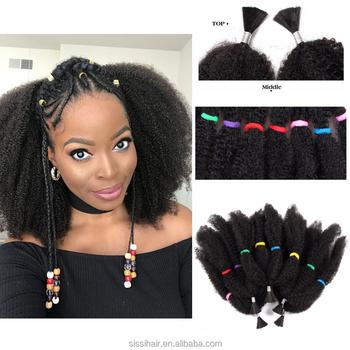 Fashion Hair Synthetic Kinky Crochet Twist Hair Bulkafro Twist