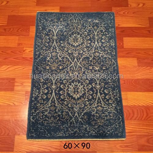 2x3ft Hot Sale Handmade Wool Silk Rugs Handwoven Indian Wool Carpet