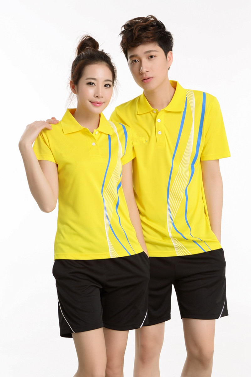 Fashion unisex custom design polo badminton jersey sets