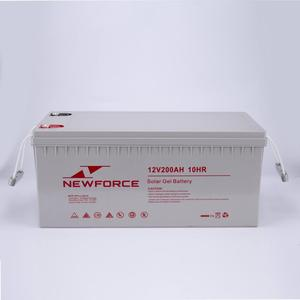 High quality 12v 200ah sealed lead acid deep cycle battery with solar battery wooden box packing