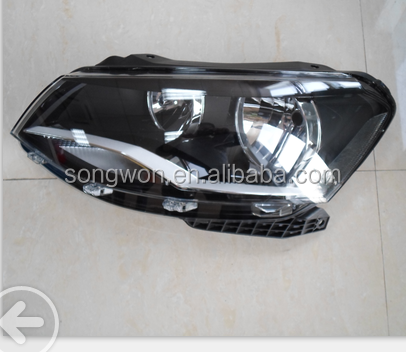 high quality ABS material headlight for vw golf G6