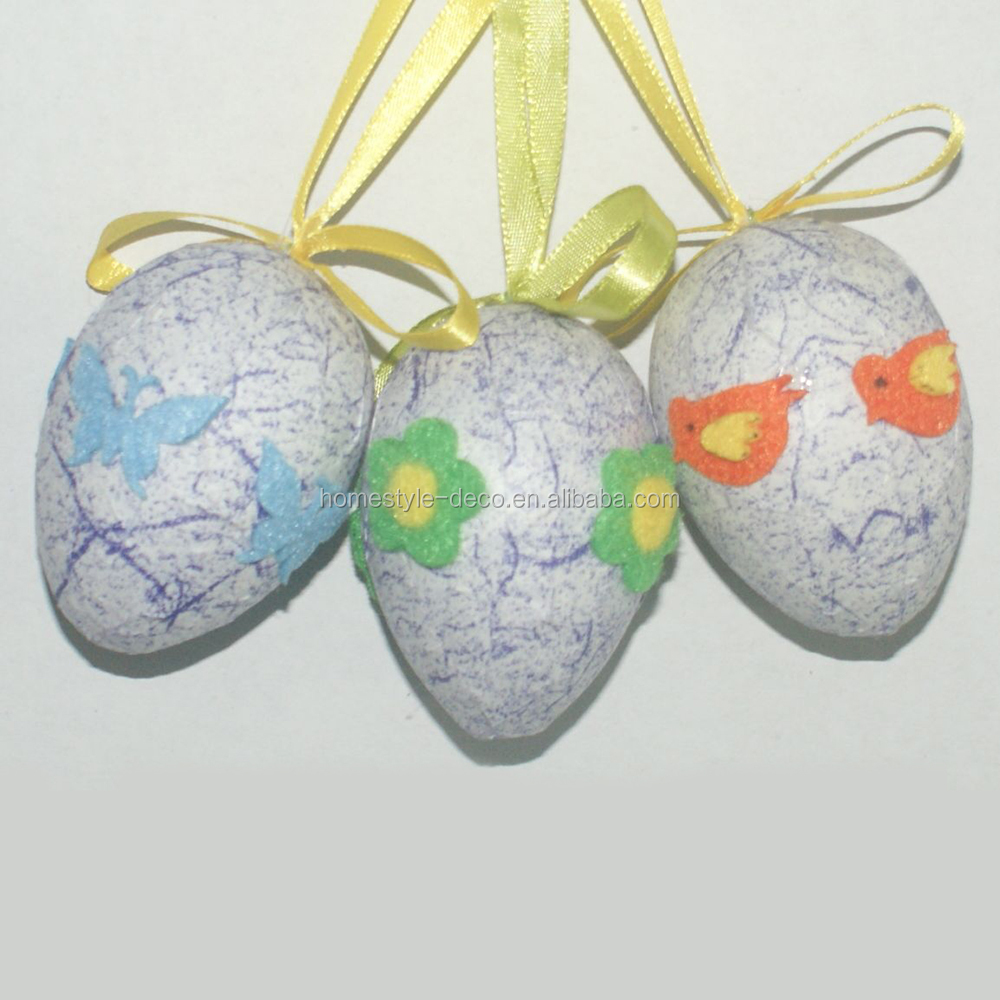Wholesale easter decoration polyfoam easter egg ornament easter egg
