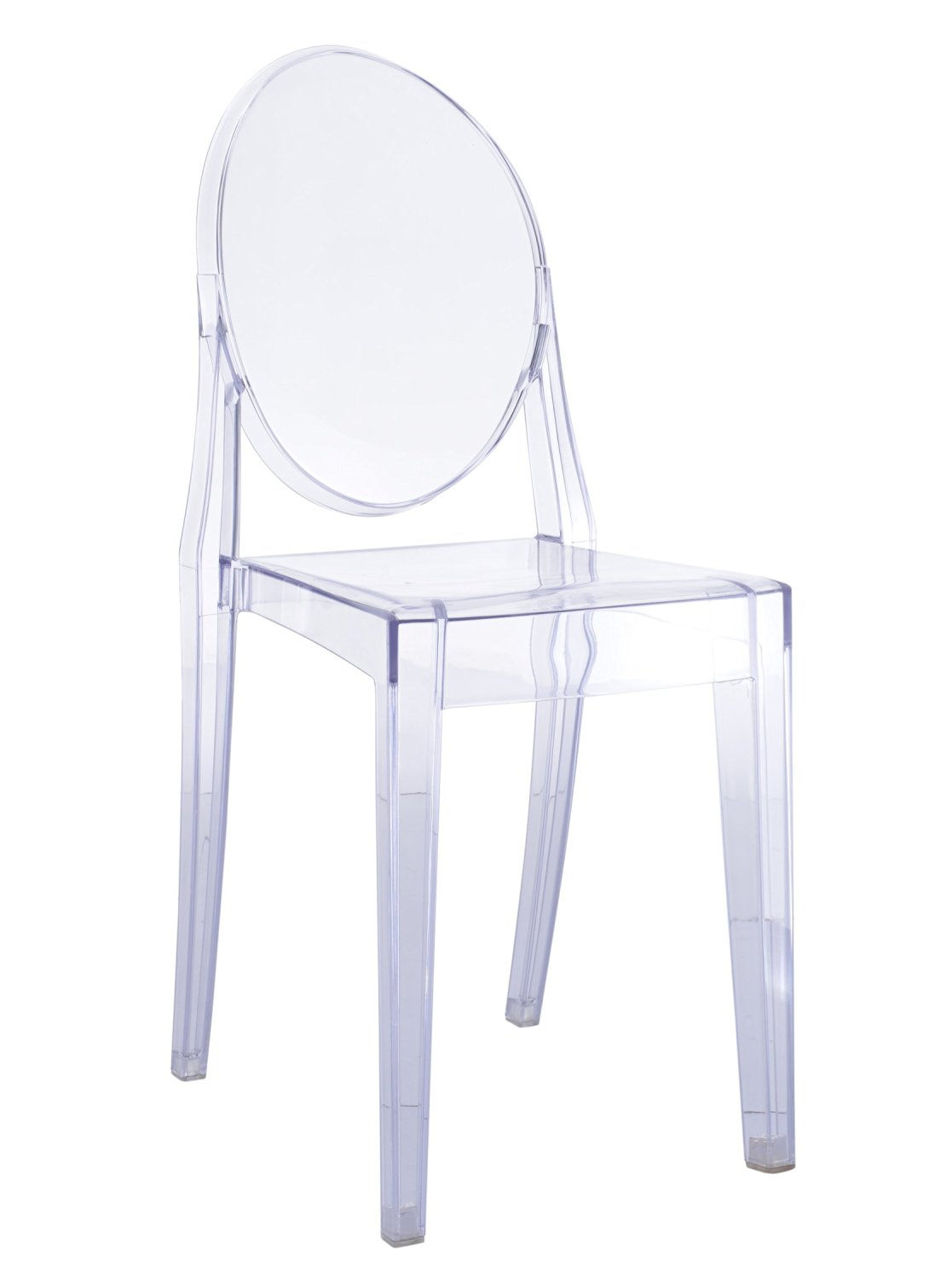 Get Quotations · Victoria Ghost Side Dining Chair In Clear Transparent  Acrylic