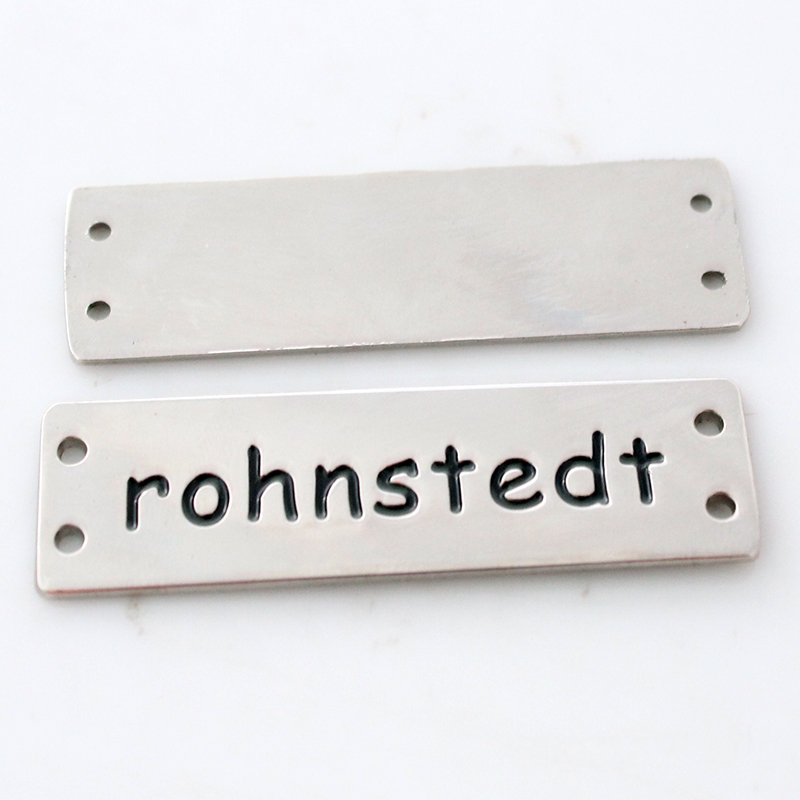 Chinese supplier art and craft embossed logo metal name plate
