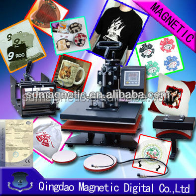 CE approved flatbed t shirt heat press machine for sale
