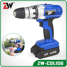 ZW-CDLI06 18V Lithium Li-ion Cordless Drill Rechargeable Electric Drill Power Tool Set