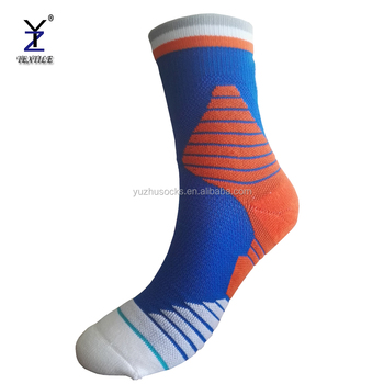 Wholesale custom running sport men stripe design your own athletic crew socks