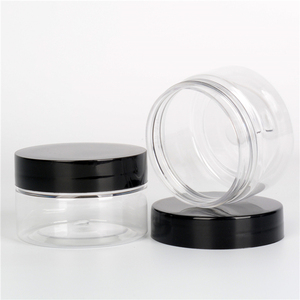 IBELONG Wholesale cheap empty cosmetic plastic jar 50ml cosmetics container jar pet with plastic and aluminum cap manufacturer