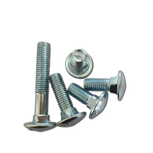 Carbon steel stainless steel round head carriage bolt nut din603