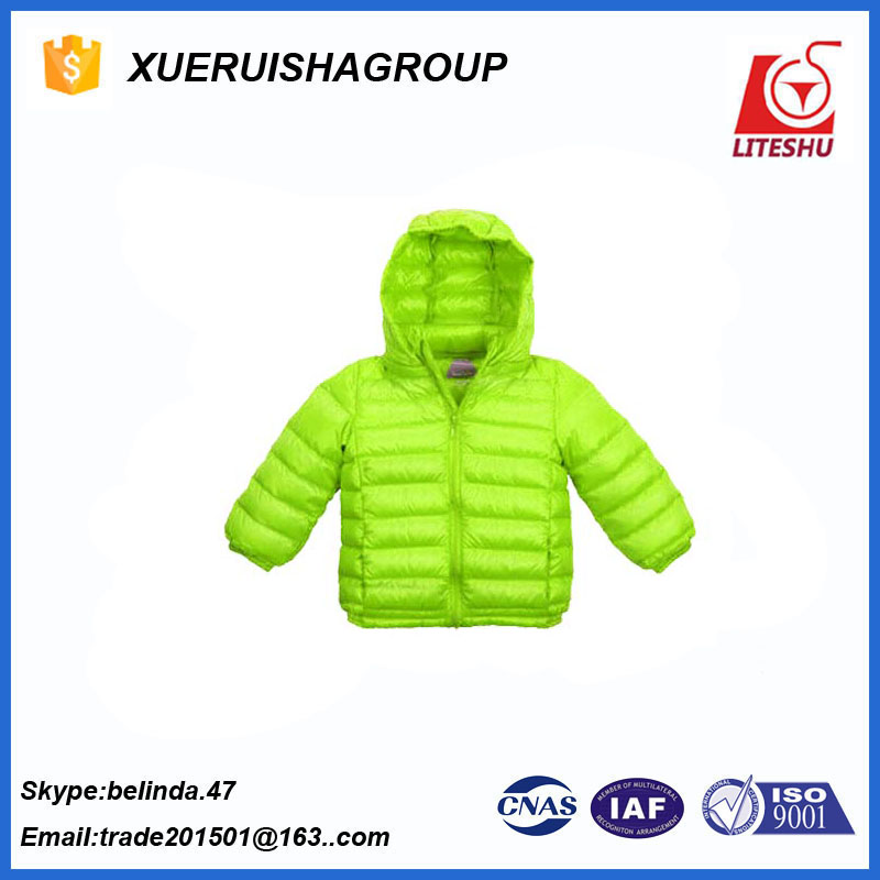 for little age kids comfortable down jacket thin fill weight