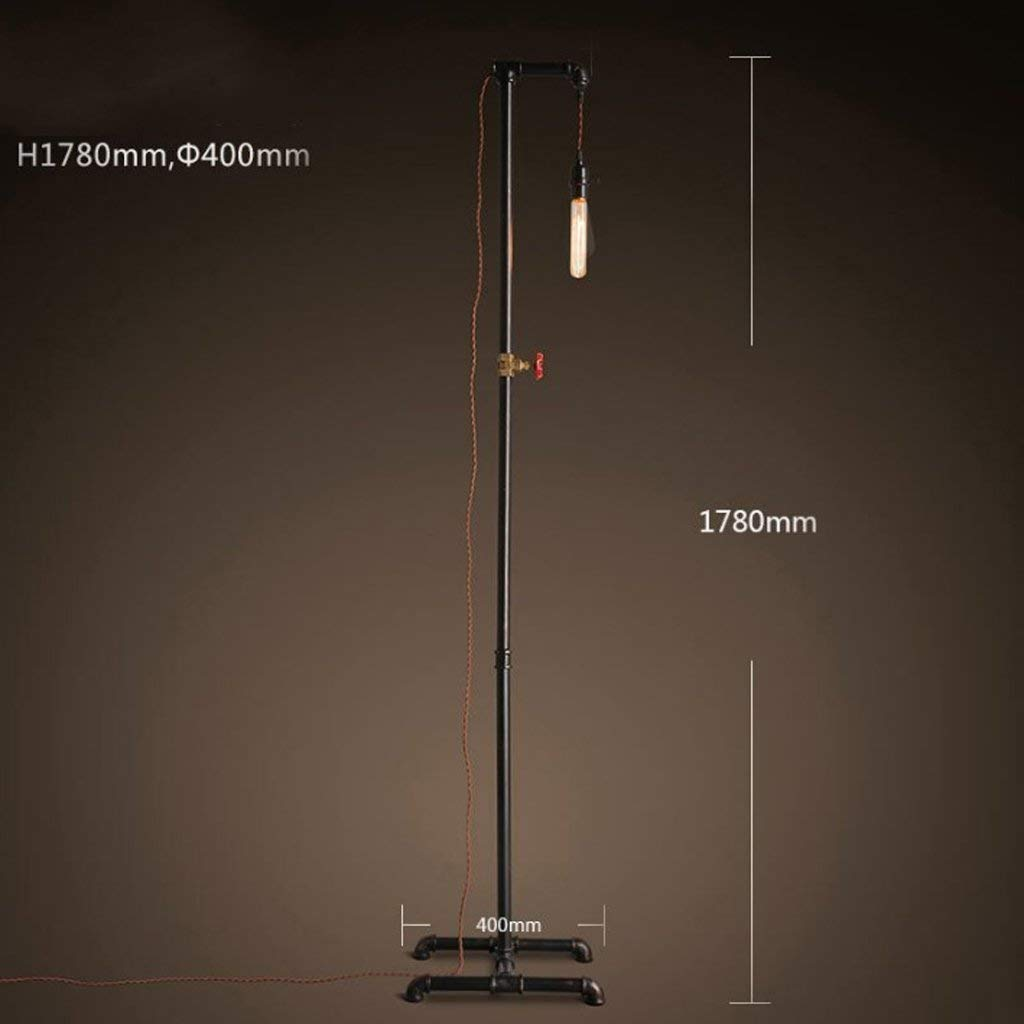 DEED Floor Lamp-Led Retro Floor Lamp Office Floor Lamp Creative Living Room Lighting, Bedroom Bedside Lamp, Industrial Feng Shui Lamp Eye Protection Vertical Table Lamp