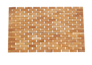 Luxury Roll-Up Bamboo Bath Shower Spa Sauna Mat