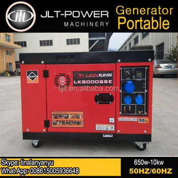 Jlt Power Diesel Generator Single Phase 4 Stroke 5500 Watt