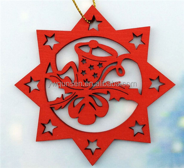 2018 christmas tree craft wooden christmas hanging ornament