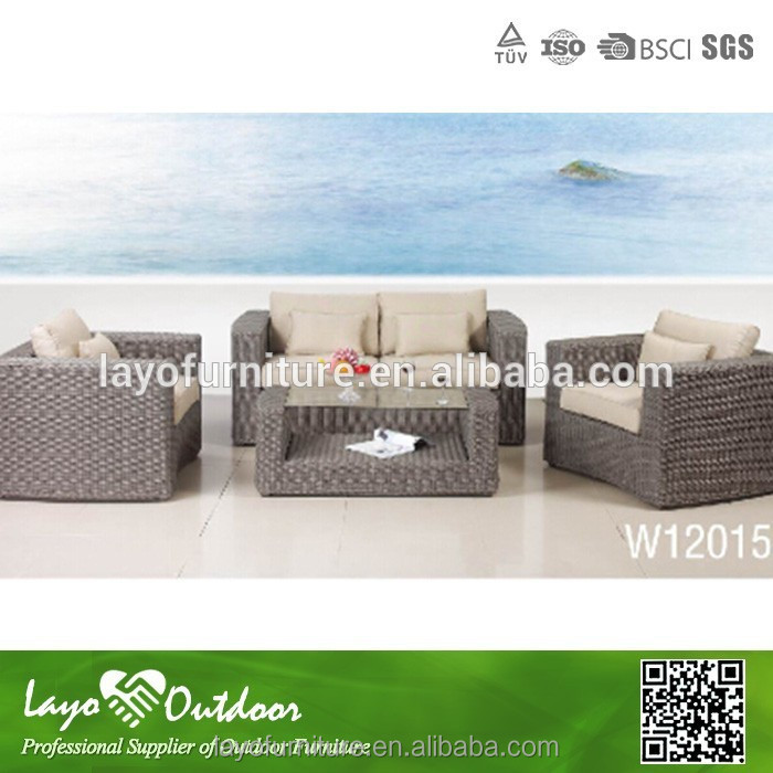 ISO9001 certification outdoor lightweight furniture seaside rattan leisure sofa