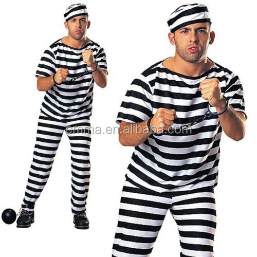 Mens Prison Break Convict Costume Adult Prisoner Stag Fancy Dress Halloween Costume Sf047 Buy Halloween Costume Costume Prisoner Costume Product On Alibaba Com