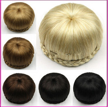 Wholesale Free Shipping Peruca Styling Tools Sytnhetic Fake Hair Bun Wig Hair Chignons Roller Hepburn Hairpiece Clip Buns Toupee