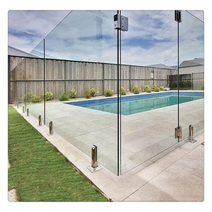 Polished Edges 12mm Clear Toughened Frameless Swimming Pool Fence Glass Safety