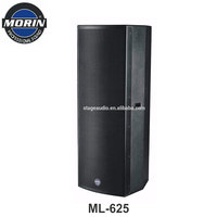 Pro Dual 15 Inch Powered Sound System Speaker For Out door Stage DJ Band Show Sound Amplifying Morin ML-625