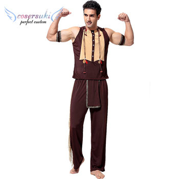 New men's minority stage performance clothing Halloween Indian Costumes Movie Costume