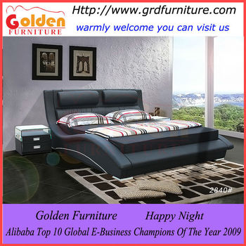 Fancy Style Reasonable Price King Size Leather Bed Frame F2840