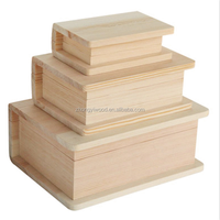 book style no painting small wooden boxes wholesale