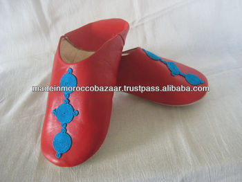 5b86d2a2155c1 Trendy Moroccan Red Leather Handmade Babouche Slippers, View moroccan  leather babouche shoes slippers women, Babouche slippers Product Details  from ...