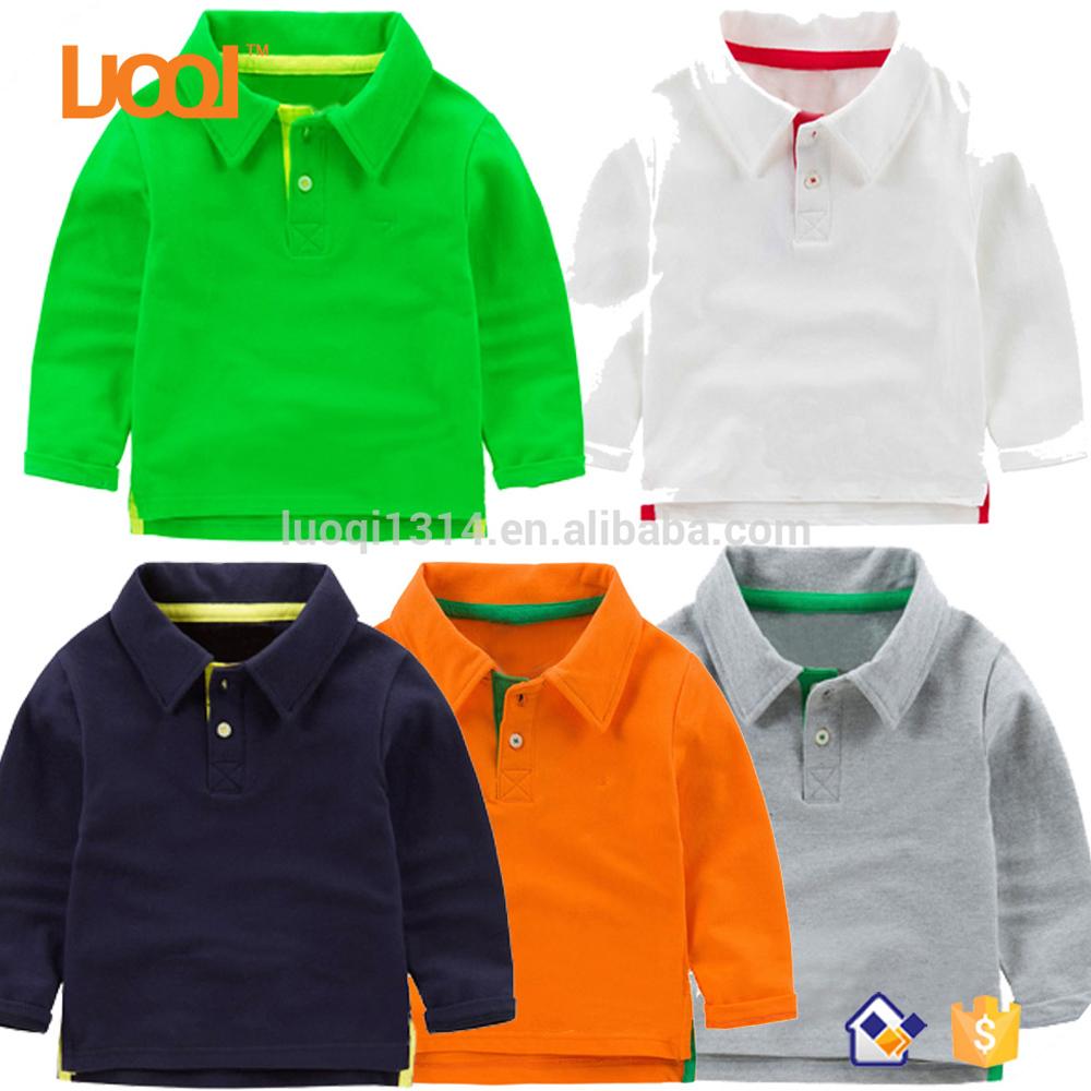 Children Clothes Cute T Shirts Wholesale Cheap Bulk Blank Plain Polo