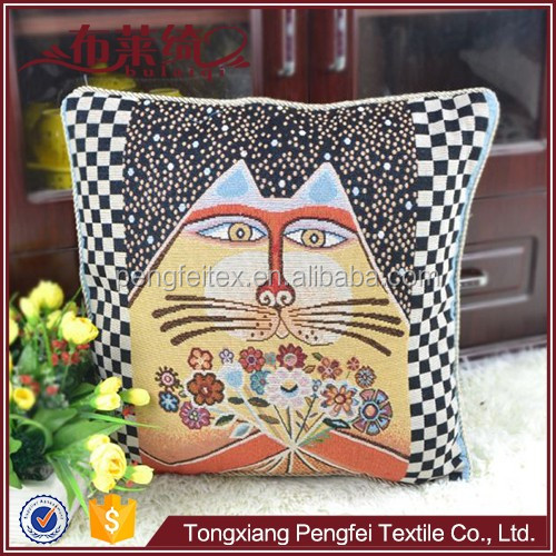 Lucky Cat pattern wooden sofa seat cushion