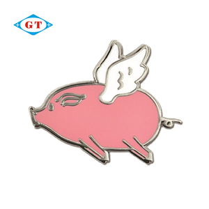 Custom logo metal bulk cartoon enamel lapel pins badge manufacturers