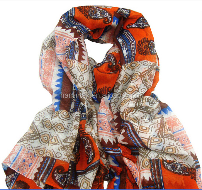 Promotion & Premium Gift Silk Scarf in Printing design