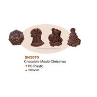 Christmas Hotsell PC Plastic Chocolate Mold