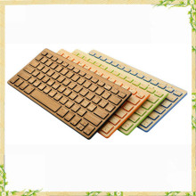 2016 hot sale china manufacture super thin bamboo keyboard bluetooth wireless keyboard