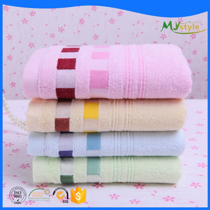 Hot sale Customized logo 100% bamboo dobby hand bath towel sets