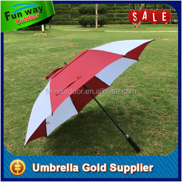 Chinese manufacturer windproof custom promotional golf umbrellas 68 inches