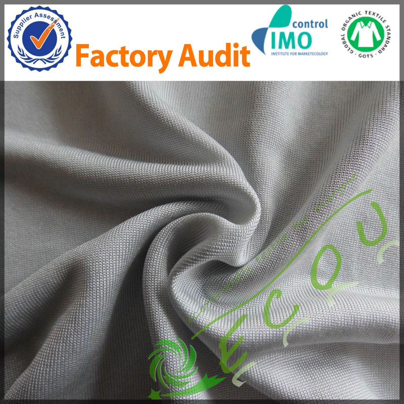 100% silk jersey fabric for garment