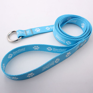 Custom dog leash printed logo free sample no minimum order