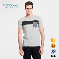 Chest panel men t shirt with fake pocket China manufacturer promotional t-shirt Muscle fit various color tee shirt